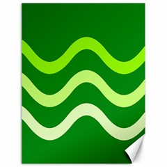 Green waves Canvas 18  x 24