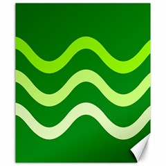 Green waves Canvas 20  x 24