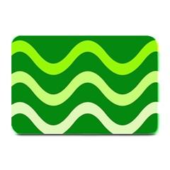 Green waves Plate Mats