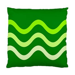 Green waves Standard Cushion Case (Two Sides)