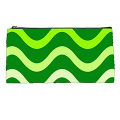 Green waves Pencil Cases