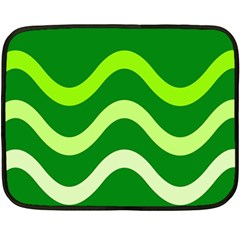 Green waves Double Sided Fleece Blanket (Mini)