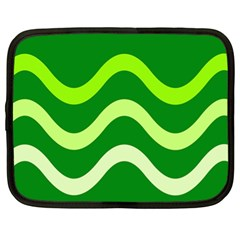 Green waves Netbook Case (XL)