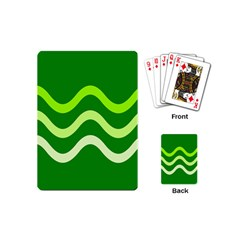 Green waves Playing Cards (Mini)
