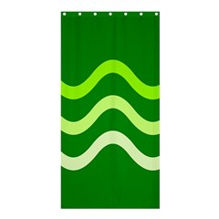 Green waves Shower Curtain 36  x 72  (Stall)