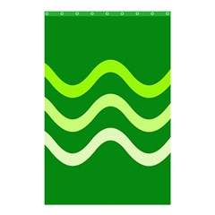 Green waves Shower Curtain 48  x 72  (Small)