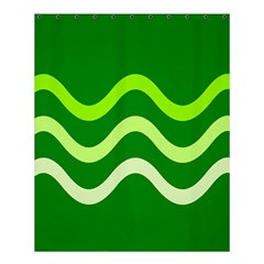 Green waves Shower Curtain 60  x 72  (Medium)