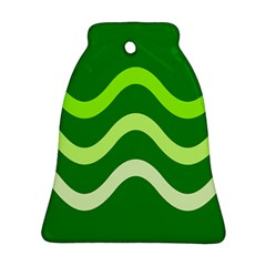 Green waves Bell Ornament (2 Sides)
