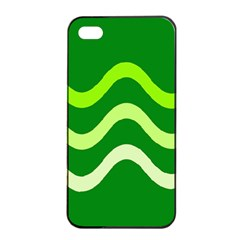Green waves Apple iPhone 4/4s Seamless Case (Black)