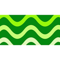 Green waves YOU ARE INVITED 3D Greeting Card (8x4)