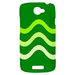 Green waves HTC One S Hardshell Case