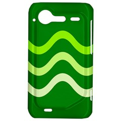 Green waves HTC Incredible S Hardshell Case