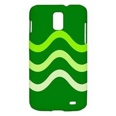Green waves Samsung Galaxy S II Skyrocket Hardshell Case