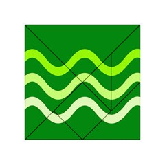 Green waves Acrylic Tangram Puzzle (4  x 4 )