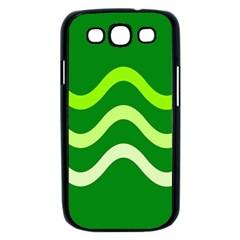 Green waves Samsung Galaxy S III Case (Black)