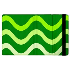 Green waves Apple iPad 3/4 Flip Case