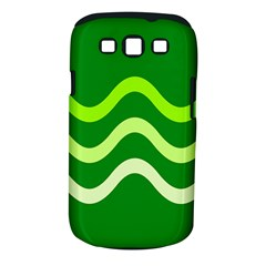 Green waves Samsung Galaxy S III Classic Hardshell Case (PC+Silicone)