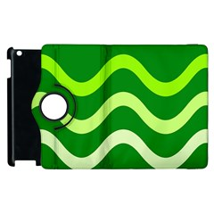Green waves Apple iPad 3/4 Flip 360 Case
