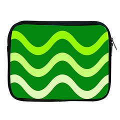 Green waves Apple iPad 2/3/4 Zipper Cases