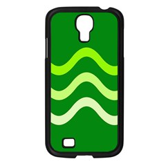 Green waves Samsung Galaxy S4 I9500/ I9505 Case (Black)