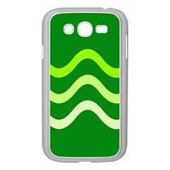 Green waves Samsung Galaxy Grand DUOS I9082 Case (White)