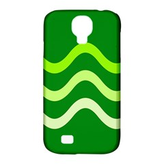 Green waves Samsung Galaxy S4 Classic Hardshell Case (PC+Silicone)