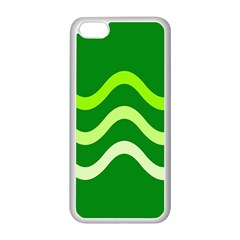 Green waves Apple iPhone 5C Seamless Case (White)