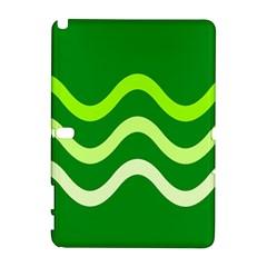 Green waves Samsung Galaxy Note 10.1 (P600) Hardshell Case