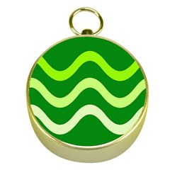Green waves Gold Compasses