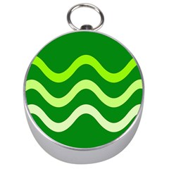 Green Waves Silver Compasses