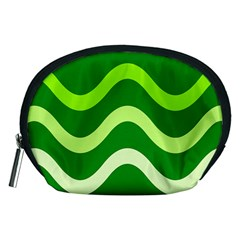 Green waves Accessory Pouches (Medium)