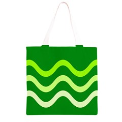Green waves Grocery Light Tote Bag