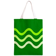 Green waves Classic Light Tote Bag