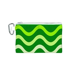 Green waves Canvas Cosmetic Bag (S)