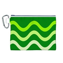 Green waves Canvas Cosmetic Bag (L)
