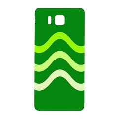 Green waves Samsung Galaxy Alpha Hardshell Back Case