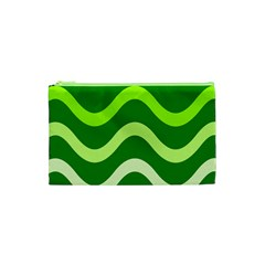 Green waves Cosmetic Bag (XS)
