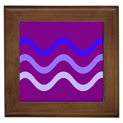 Purple Waves Framed Tiles