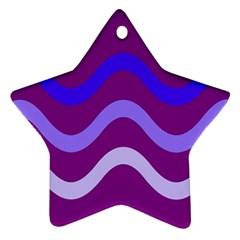 Purple Waves Ornament (Star)