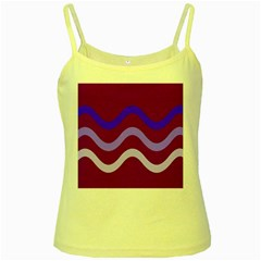 Purple Waves Yellow Spaghetti Tank