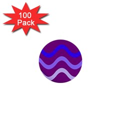 Purple Waves 1  Mini Buttons (100 pack)