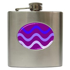 Purple Waves Hip Flask (6 oz)