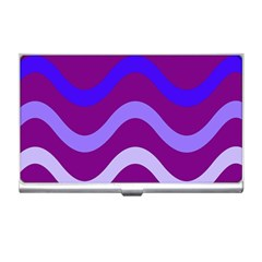 Purple Waves Business Card Holders
