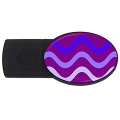Purple Waves USB Flash Drive Oval (4 GB)