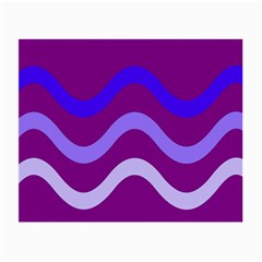 Purple Waves Small Glasses Cloth (2-Side)