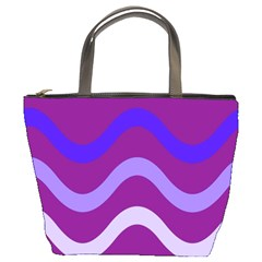 Purple Waves Bucket Bags