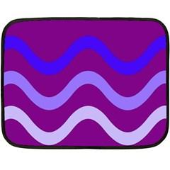 Purple Waves Double Sided Fleece Blanket (Mini)