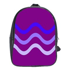 Purple Waves School Bags(Large)