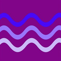 Purple Waves Magic Photo Cubes