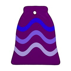 Purple Waves Bell Ornament (2 Sides)